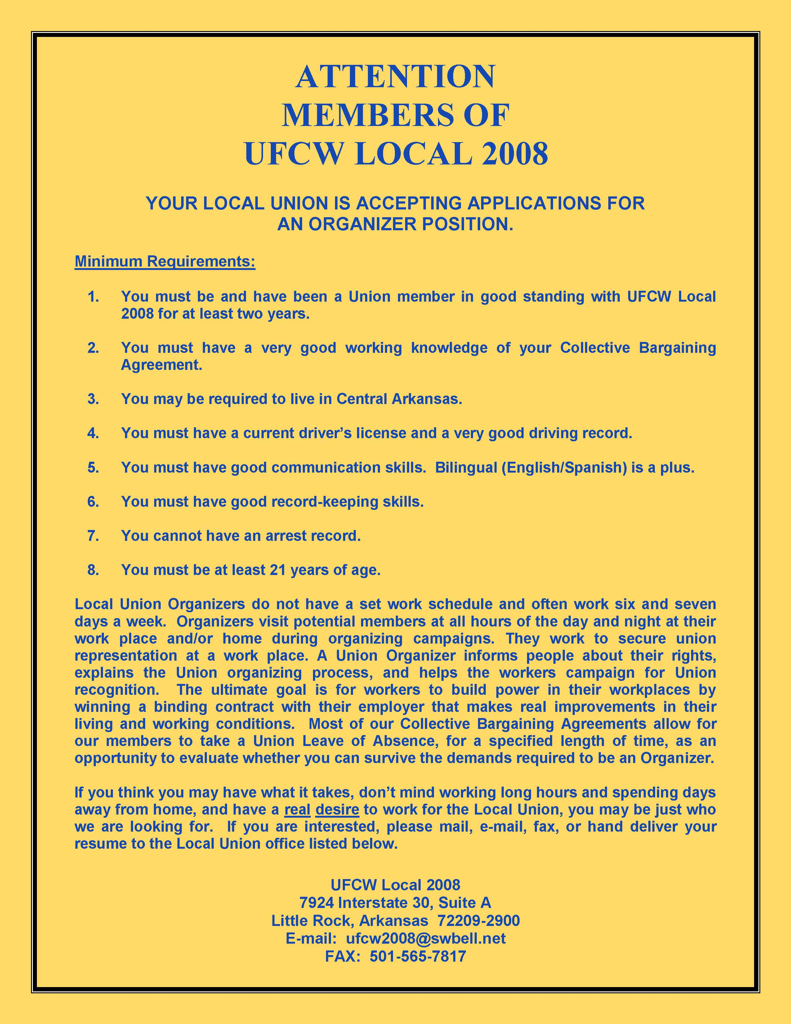 Ufcw local 2008 the official website of the united food and employment opportunity platinumwayz